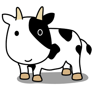 路地裏の牛